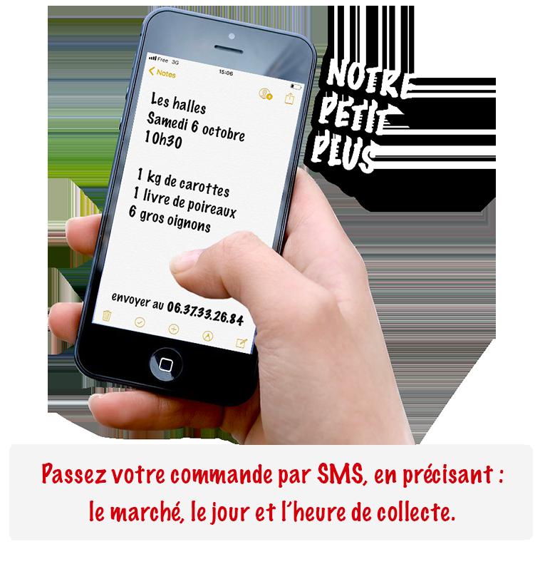 Une commande par SMS de fruits et légumes à Angoulême